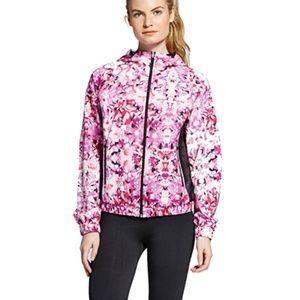 Vibrant Hot Pink Patterned Wind Breaker Jacket